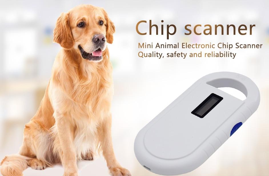 Livraison gratuite ISO11784/5 FDX-B Animal lecteur d'identification de puce transpondeur USB RFID poche microchip scanner pour chien, chats, cheval - 5