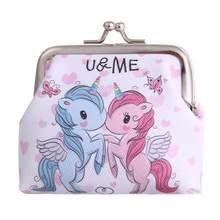 Women Mini Unicorn Wallet Card Holder Case Coin Purse Clutch Change Bag Children's Wallets Change Holder carteira monederos(China)