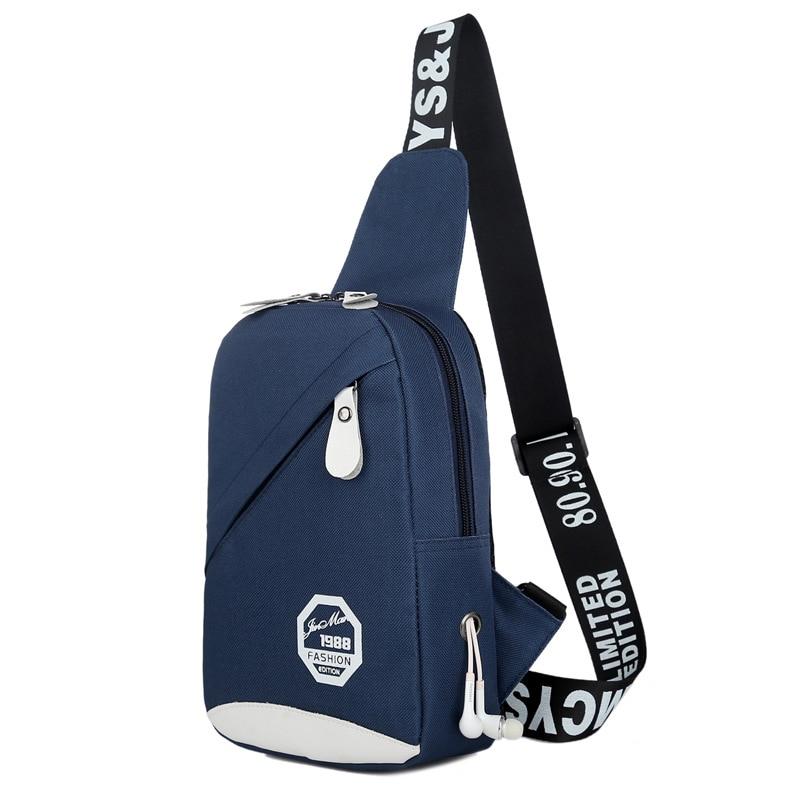 Men 39 s Chest Leisure Female Canvas Bag One Shoulder Crossbody Bag Outdoor Movement Running Bag