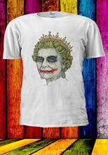Elizabeth The Queen Joker Smile T-shirt Vest Men Women Unisex 552 summer o neck tee, free shipping cheap tee(China)