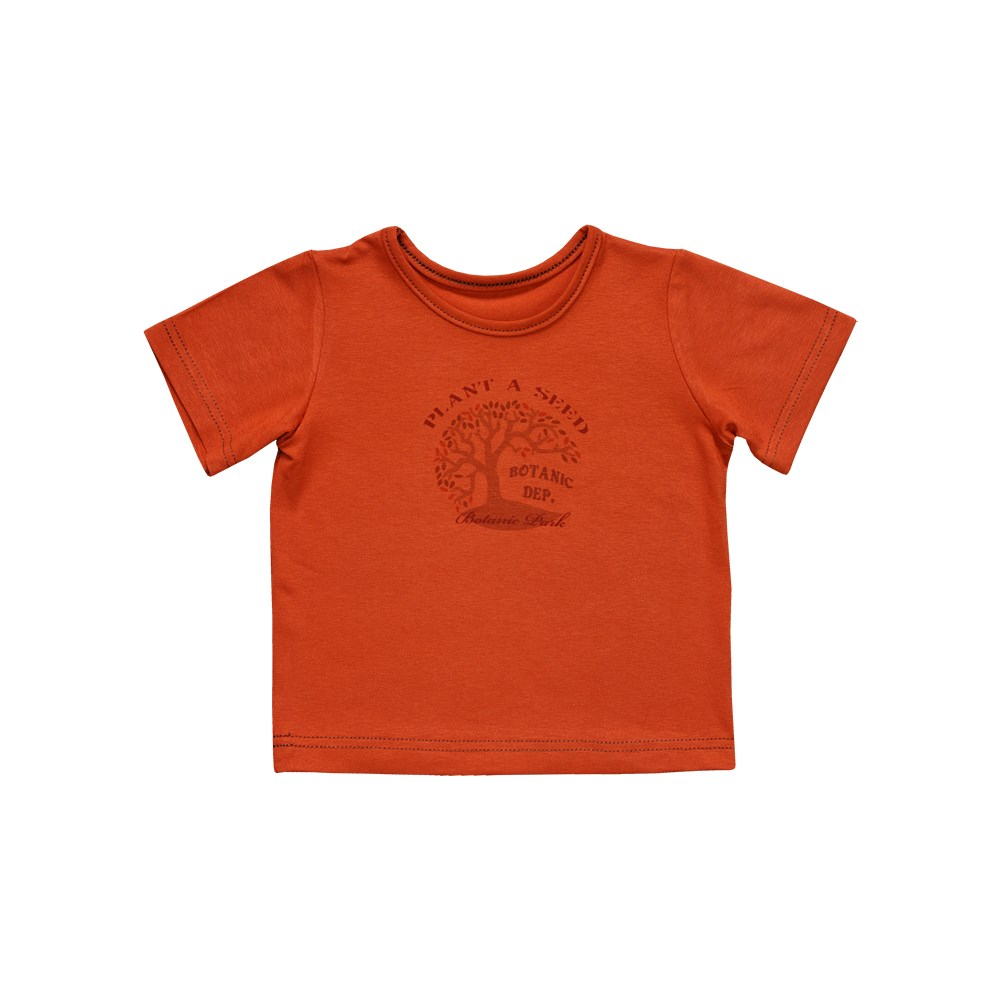 Little People Shirt T-shirt terracotta with print M