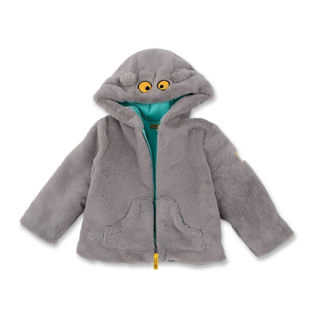Basik Kids Jacket fur gray camo insert faux fur trim denim jacket