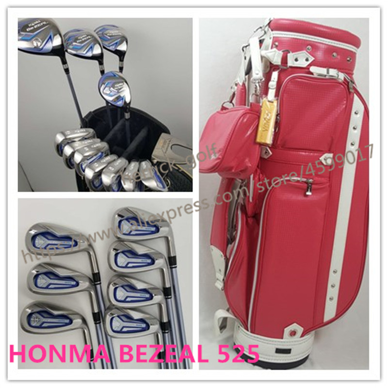 Women's golf clubs HONMA BEZEAL 525 Golf Irons Ms. Golf Club Graphite Golf Club L Bending and bag Free Shipping
