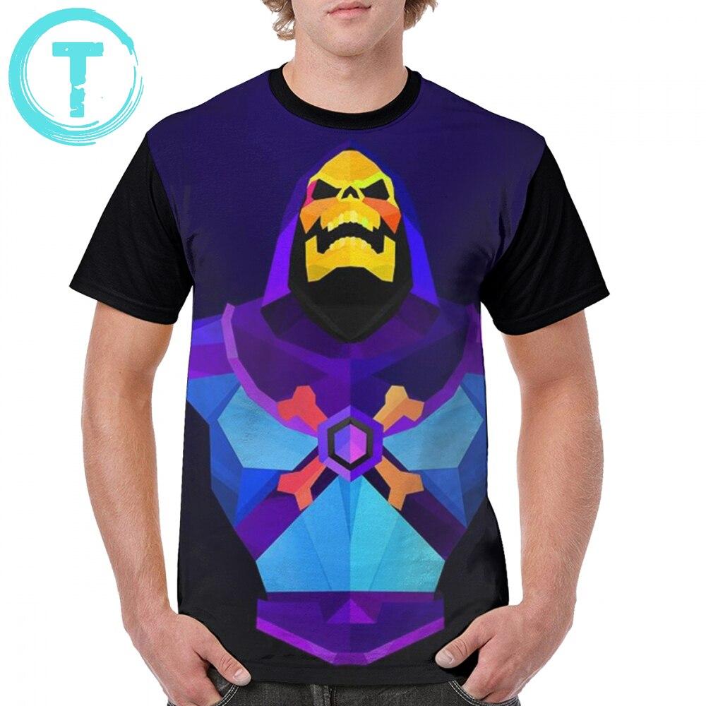 Skeletor T Shirt Logo Skeletor T-Shirt Streetwear 100 Polyester Graphic Tee Shirt Printed Men Short Sleeves Oversized Fun Tshirt