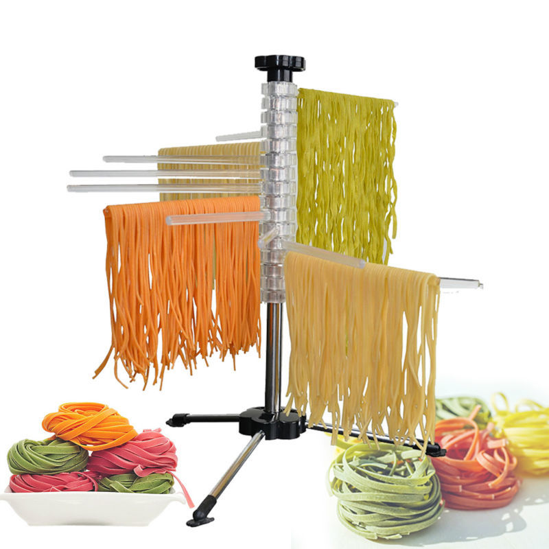 Homemade Noodle Drying Rack Safe Material Spaghetti Pasta Stand Holder Rotatable Pasta Dryer Cooking Tools Kitchen Gadget Tools image