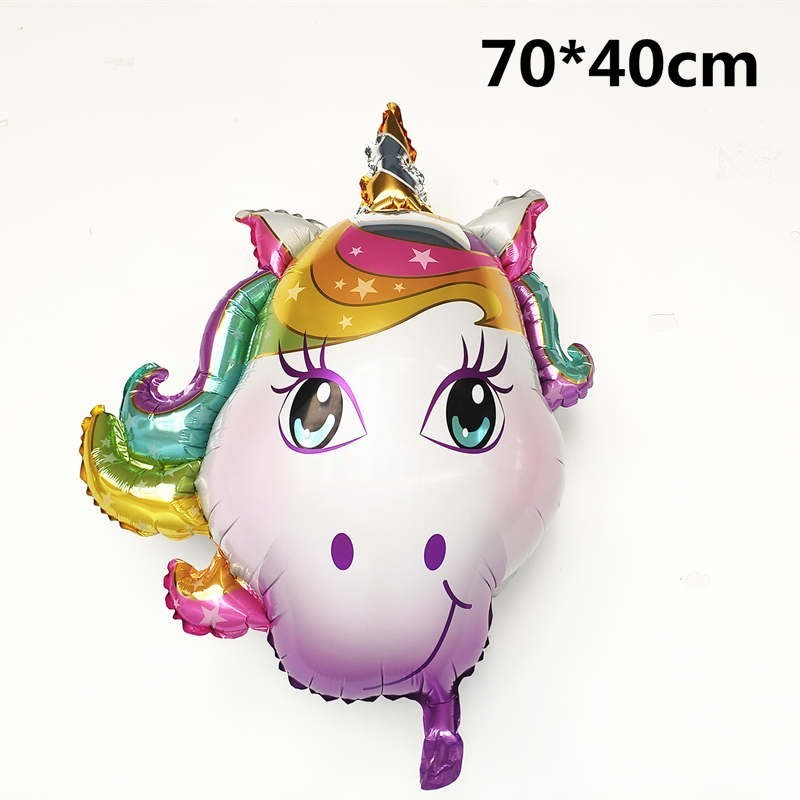 1pc Large 4D Unicorn Foil Balloons Unicorn Party Decorations Birthday Party Decor Kids My Little Pony Party Supplies Kid's Toy