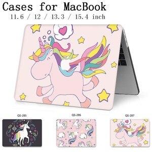 Image 1 - Heißer Notebook Sleeve Für Neue MacBook Air Pro Retina 11 12 13 15,4 13,3 Zoll Mit Screen Protector Tastatur Cove für Laptop Fall