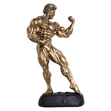 Originality Bodybuilding Trophy Boxing Champion Hercules Male Model Medal Award Trophy Home Furnishing Sports Gifts Souvenirs high quality crown resin trophy champion trophy custom king glory trophy souvenir free shipping