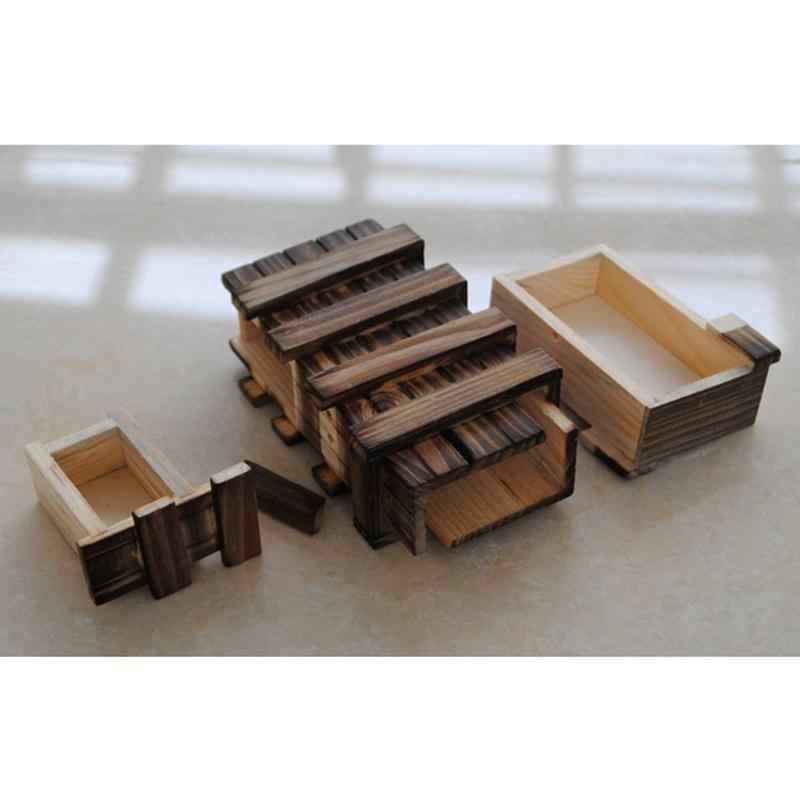 Caja con rompecabezas de madera compartimento mágico cerebro Teaser con cajón secreto juguetes de madera rompecabezas cajas chico s juguete de madera chico regalos de navidad