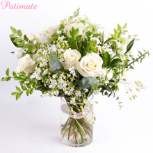 PATIMATE Artificial Rose Flowers Plant Wedding Party Supplies Floral For Home Decorations Silk Fake Bouquet