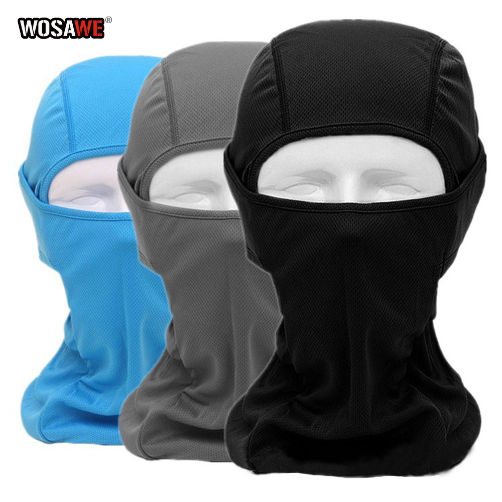 Image 4 - WOSAWE Motorcycle Balaclava Full Face Mask Breathable Airsoft Paintball Cycling Ski Shield Anti UV Men Sun Hats inside Helmet-in Protective Gears Accessories from Automobiles & Motorcycles
