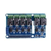 цена на 6-Channel Raspberry Pi Relay Shield Module Extension Board For Raspberry Pi A+/B+/2 B/3B