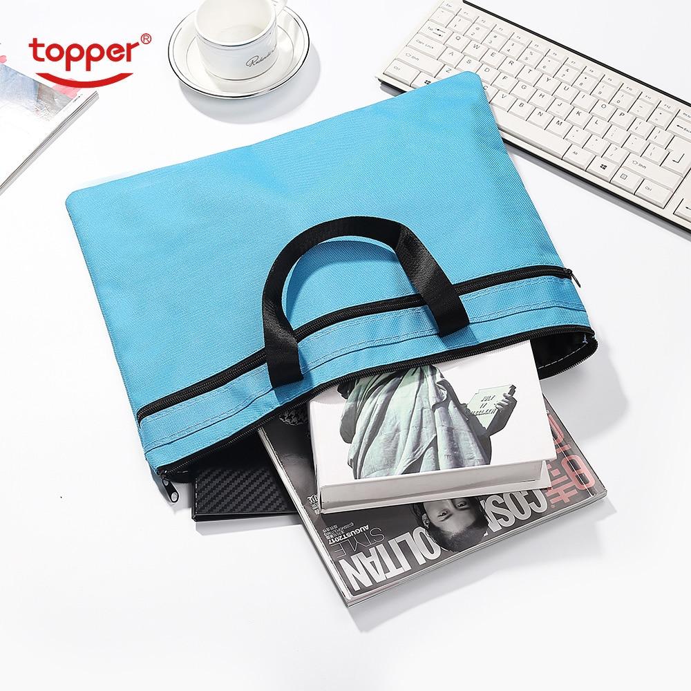 FC Size Briefcase Document Bag Portable File Bag Durable Portable Laptop Bag Double Layer Business Officially Work Bag Folders