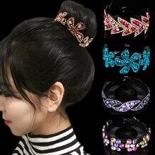 Fashion Rhinestones Flower Hair Claws Crystal Twist Headwear band For Women Accessories 23 Colors