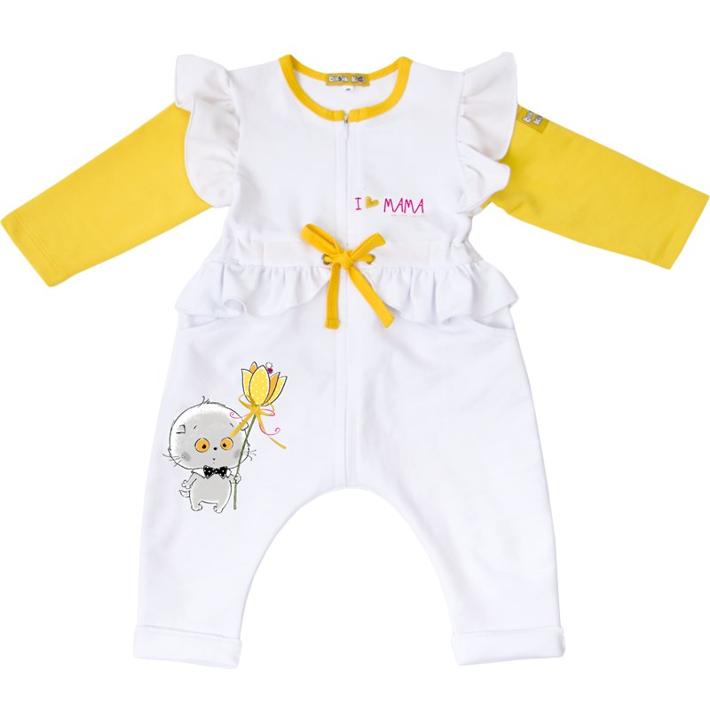Jumpsuit white with yellow dress kids clothes children clothing kids clothes children clothing летние шины michelin 245 45 r17 99w primacy 4