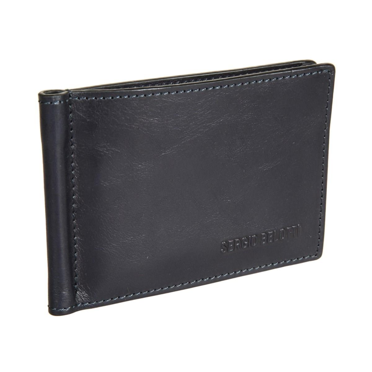 Money clip Sergio Belotti 3589 IRIDO Navy danjue genuine leather men wallets long coin purses big capacity card holder cowhide day clutch phone money bag