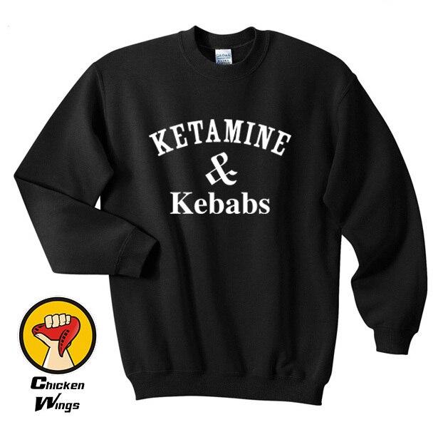 Ketamine & Kebabs Sweatshirt Cocaine And Caviar Protein Shakes Pizza Unicorn Dope Top Crewneck Sweatshirt Unisex More Colors
