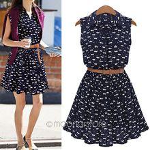 Summer Dress New Women Shirts Dress Cat Footprints Pattern Show Thin Shirt Dress Dresses With Belt