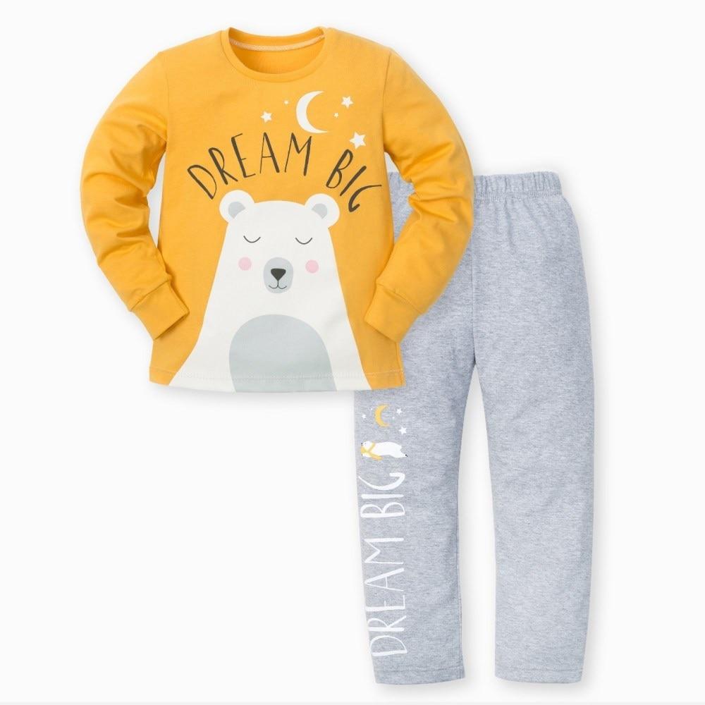 Pajama pants and jumper Little Bear 3 8g. 95% cotton 5% elastane cat pattern print top and pants pajama set