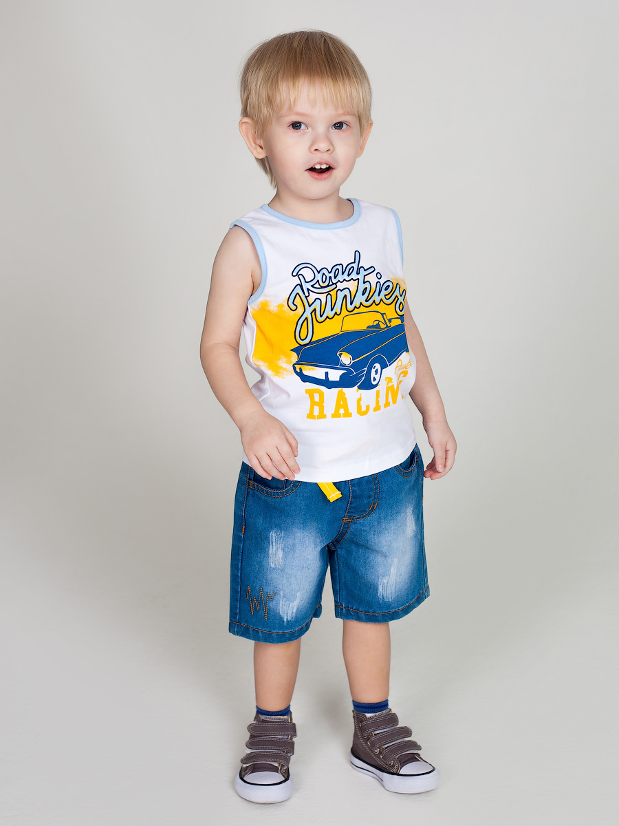 [Available with 10.11] denim shorts for boys boys roll up sleeve plaid shirt with shorts
