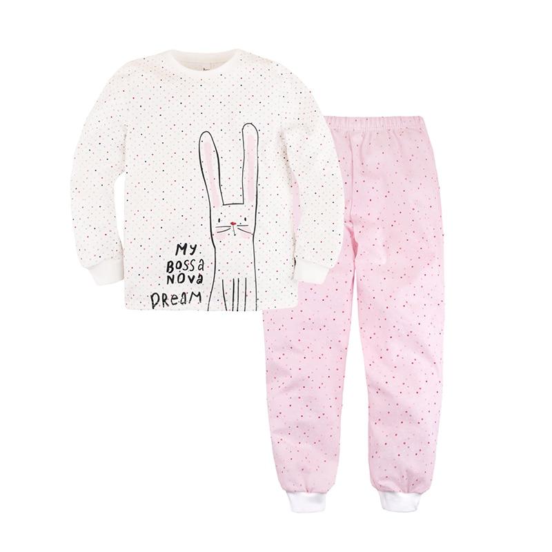 Children's Sleepsuits & Pyjamas Bossa Nova 356K-171r White&Pink Cartoon children s sleepsuits