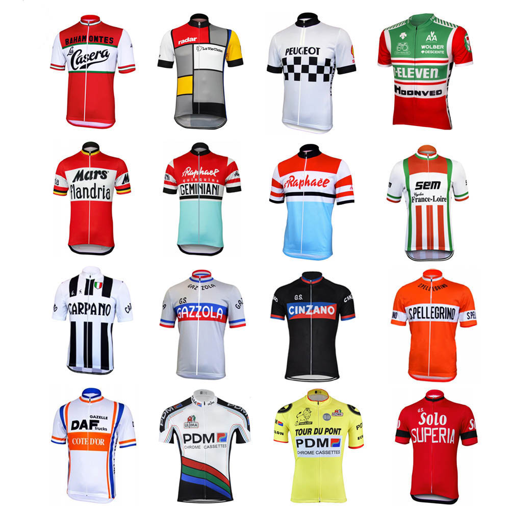NEW Classical Retro <font><b>Bike</b></font> pro MX MTB Mountain Road RACE Team <font><b>Bike</b></font> Cycling <font><b>Jersey</b></font> Tops Breathable <font><b>Customized</b></font> bicycle Multi Types image
