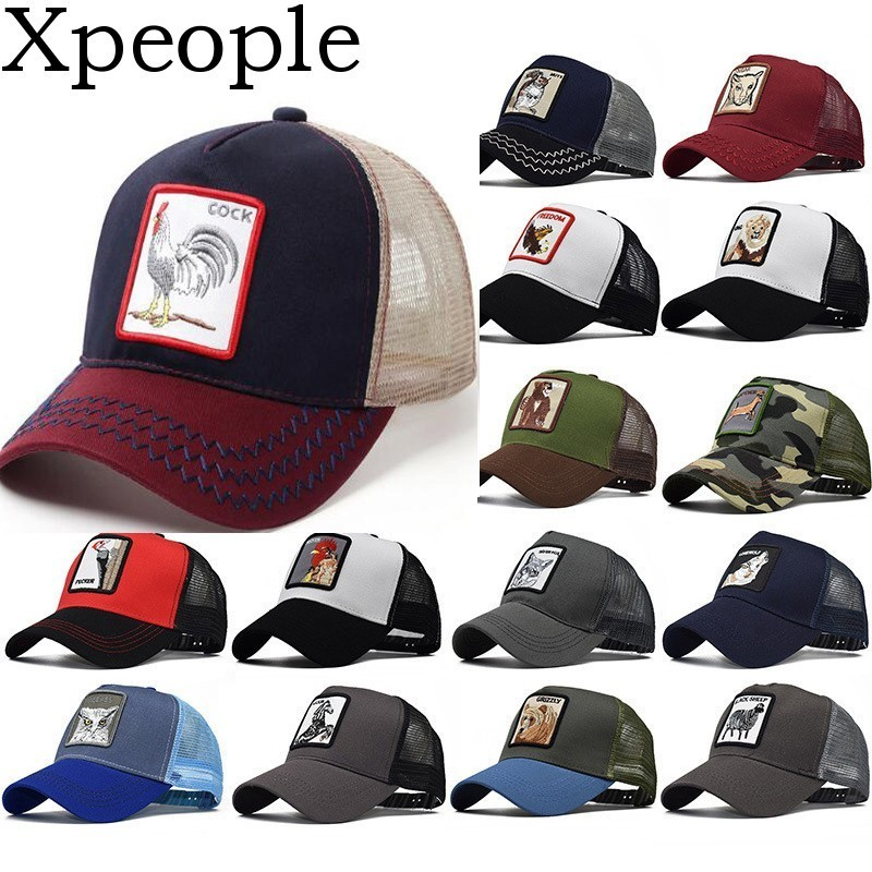 Baseball-kappen Xpeople 2019 Baseball Cap Männer Frauen Tier Bauernhof Snap Zurück Trucker Hut Mesh Papa Hut Knochen Frauen Hysterese Hip Hop Hut Bequem Und Einfach Zu Tragen