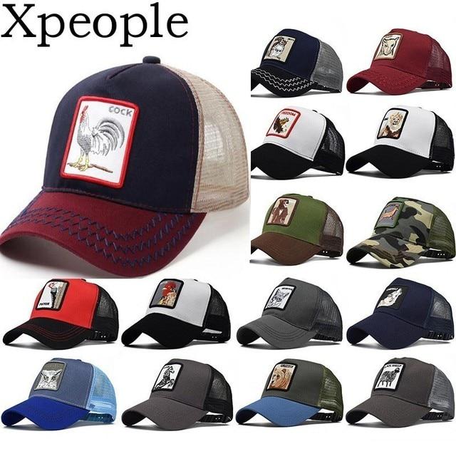Xpeople 2019 Baseball Cap Men Women Animal Farm Snap Back Trucker Hat Mesh Dad Hat Bone Women Snapback Hip Hop Hat