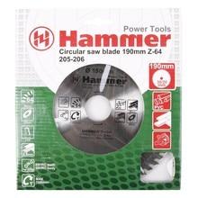 Диск пильный Hammer Flex 205-206 CSB PL  190мм*64*30/20мм по ламинату
