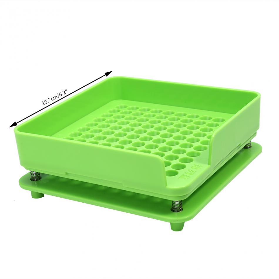 Image 3 - 100Holes Plastic Manual Capsule Filler Size 0# 1# Capsule Powder Filler Plate Manual Filling Machine Tool For DIY Herbal CapsulePill Cases & Splitters   -