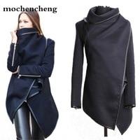 2019 plus size winter/spring new women woolen coat windbreaker jacket Slim female wool Trench coats cardigan 9 colors