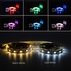 Image 2 - Ribbon RGB LED Strip Battery Operated SMD 5050 Tape Lights Waterproof IR RF Remote Control 4AA Battery Powered Fita LED Stripe