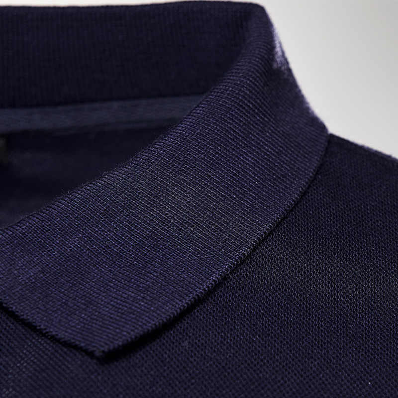 새로운 남성 폴로 스웨터 슬림 남성 캐주얼 긴 소매 폴로 셔츠 남성 사이즈 S-5XL 봄과 가을
