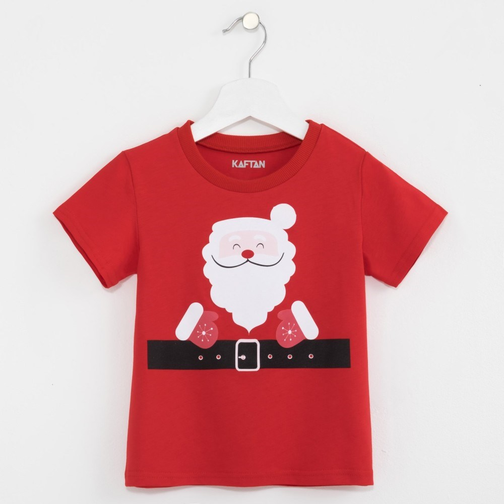 T Shirt kids KAFTAN Santa Claus 3 6 years 100% cotton christmas ornaments plush toys santa claus stuffed