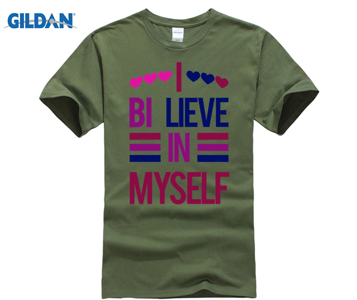GILDAN <font><b>Bisexual</b></font> <font><b>Pride</b></font> <font><b>Shirt</b></font> I Bi-Lieve in Myself T-<font><b>Shirt</b></font> image