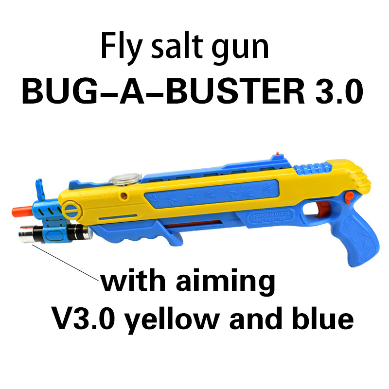 Pistola De Sal Creative Bug A Salt Gun Salt Pepper Bullets Blaster Airsoft For Bug Blow Gun Mosquito Model Toy GunChristmas Gift