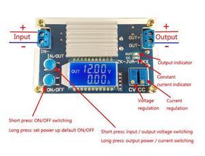 Image 4 - DC DC Converter 12A 160W CC CV Buck Step down Power Module 5.3 32V to 1.2 32V 12V 24V 5V Voltage current power LCD display Meter