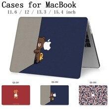 Gorący Notebook z długim rękawem dla MacBook Air Pro Retina 11 12 13 15.4 13.3 Cal z osłoną ekranu klawiatura Cove nowy dla Laptop przypadku
