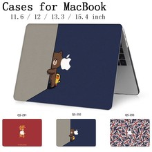 Hot Notebook Sleeve For MacBook Air Pro Retina 11 12 13 15.4 13.3 Inch With Screen Protector Keyboard Cove New For Laptop Case