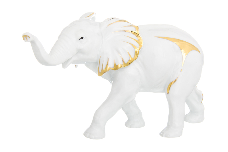 Available from 10.11 Decorative figure Elephant white, 19 * 7 * 12 cm., Gold, porcelain Elan Gallery 330630 custom gold wallpaper hand painted elephant photo wall mural tv background kitchen study bedroom living room 3d wall murals