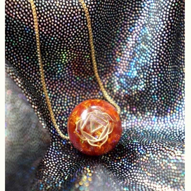 טבעי שבע הצ 'אקרות Orgonite אנרגיה תליון שרשרת אנרגיה כדור להביא מזל שרשרת סופג שלילי אנרגיה Gife
