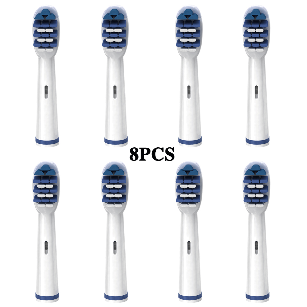 8pcs Electric toothbrush heads Deep Sweep Replacement Brush Heads For Braun Oral B Vitality PRO 3000 Triumph Toothbrush heads