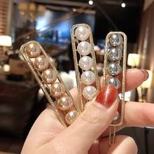 Sale Pearl Flowers Handmade Hair Clip Korean Barrette Crystal Beautiful 2019 Fashion Imitiation Accessories