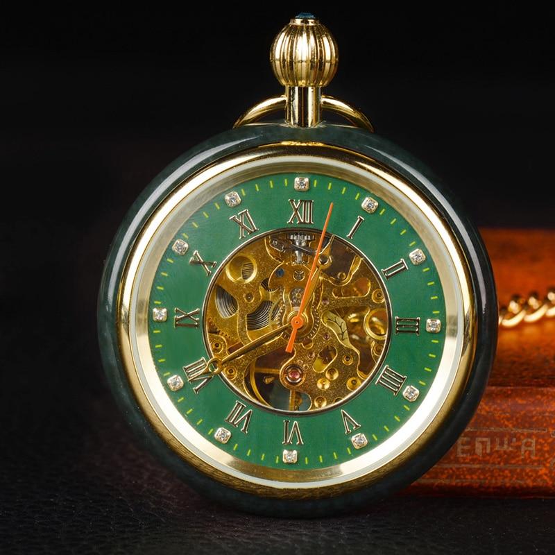 Hetian jade Pocket Watch