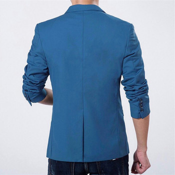 Mens Korean slim fit fashion cotton blazer Suit Jacket black blue  plus size M to 3XL Male blazers Mens coat Wedding 1