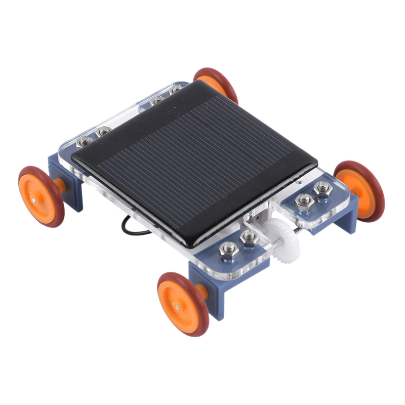 Diy Robot Solar Mini Powered Toy Children Car Assemble Set Kit Educational Science For Kids