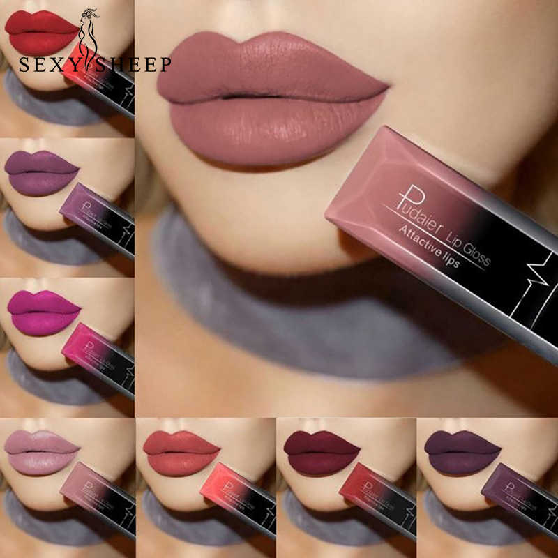 SEXYSHEEP Lippenstift Wasserdichte Rote Lippen Lang Anhaltende Make-Up Metallic Glanz Make-Up Nackt Lip Stick Matte Lippenstift 21 Farbe