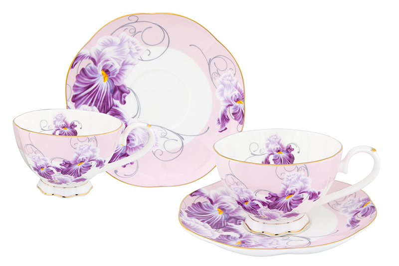 Available from 10.11 Tea pair Irises 4 items Elan Gallery 530034