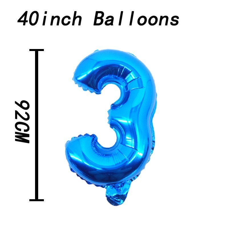 1pc 40inch Gold Sliver Number Foil Balloons Birthday Party Decorations Kids Wedding Decorations Globos Rose Gold Party Supplies in Ballons Accessories from Home Garden