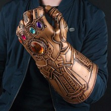 цена Avengers 4 Endgame Iron Man Infinity Gauntlet Hulk Cosplay Arm Thanos Latex Gloves Arms Mask Marvel Superhero Weapon Party Props